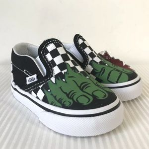Vans x Marvel Classic Slip-On Hulk Sneakers